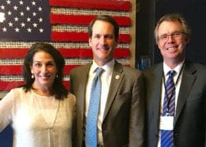 L to R: Nancy LaPerla, VP Marketing, Benchmark IT; U.S. Representative, Jim Himes (D-CT-4th District); John Bemis, President, Benchmark IT